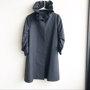 Martin Grant Structured Ruched Silk Trench Coat